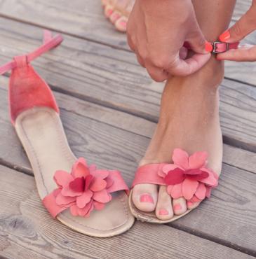 accessoires en gel pour les sandales