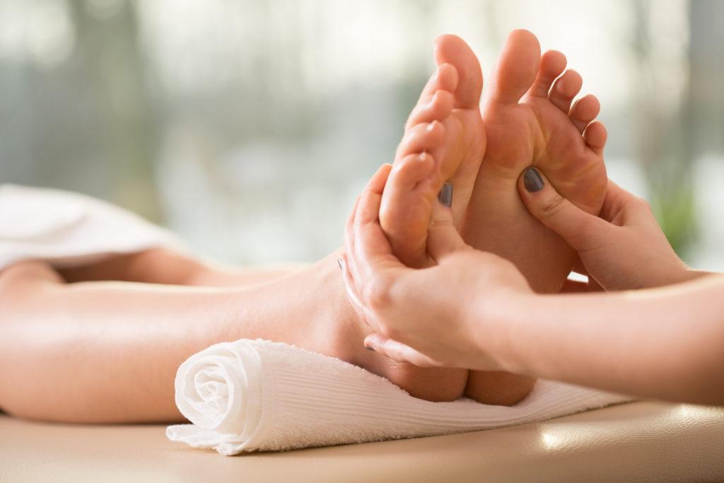 Massage des pieds, moment de bien-être