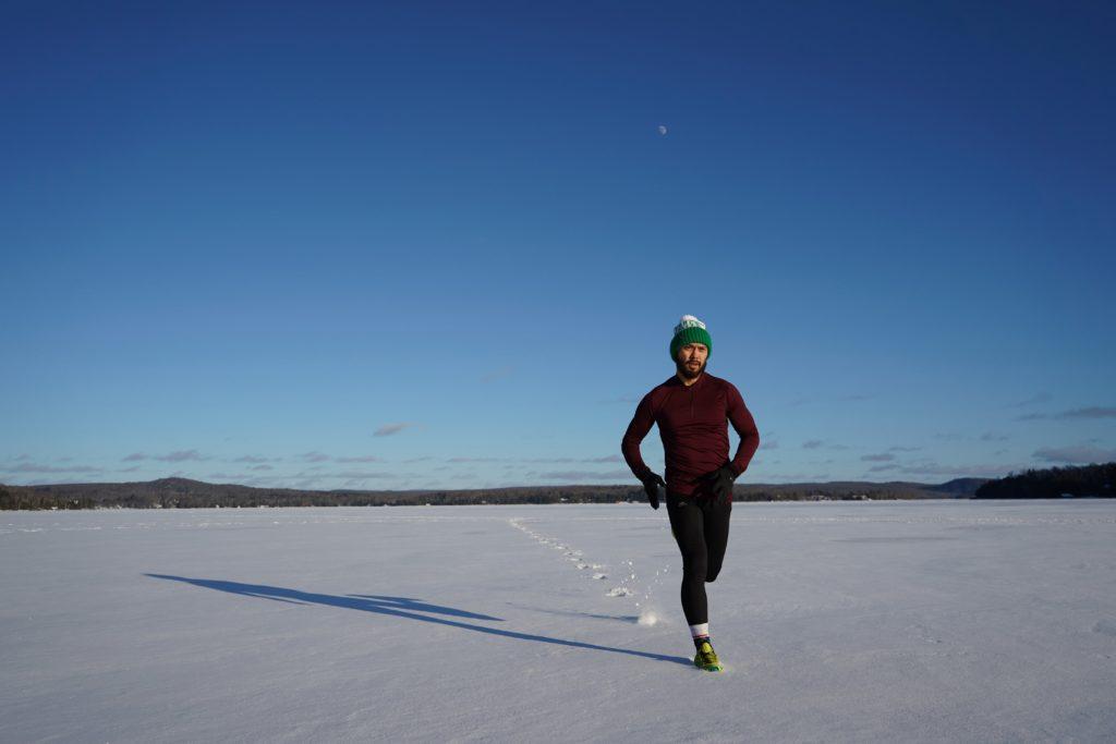 Courir dans la neige
