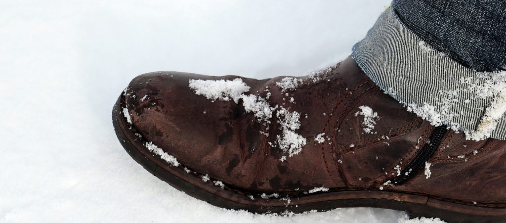 Des bonnes chaussures en hiver